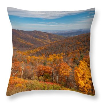 Shenandoah Skyline Throw Pillow