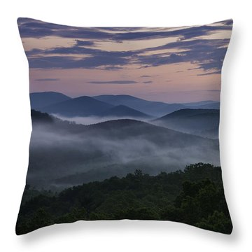 Throw Pillow featuring the photograph Shenandoah Sunrise by Kevin Blackburn