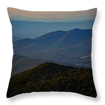 Shenandoah Valley At Sunset Throw Pillow