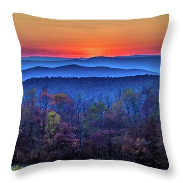 Shenandoah Valley Sunset Throw Pillow