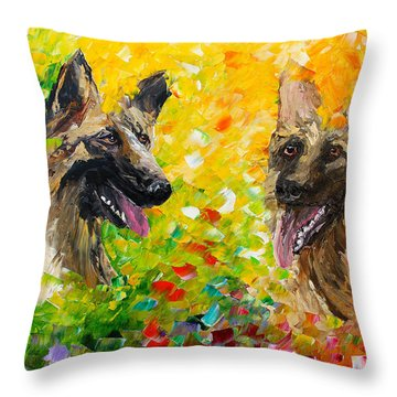 Shepards Throw Pillow