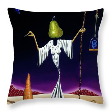 Throw Pillow featuring the painting Shepherd Moon by Paxton Mobley