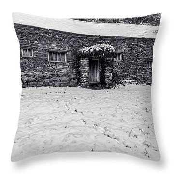 Throw Pillow featuring the photograph Shepherds Cottage by Keith Elliott