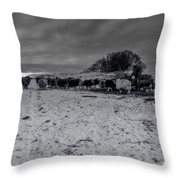 Shepherds Work Throw Pillow