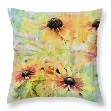 Sherbet Flowers Throw Pillow