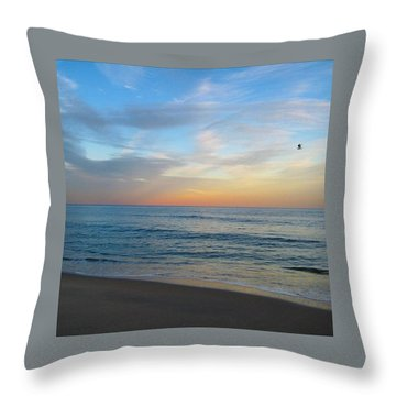 Sherbet Sky Throw Pillow by Lauren Fitzpatrick