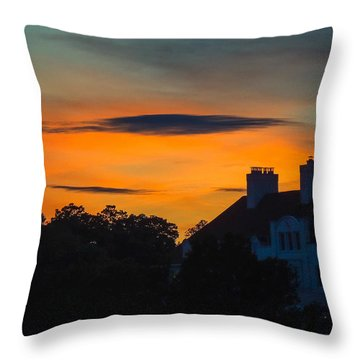 Sherbet Sky Sunset Throw Pillow by Glenn Feron
