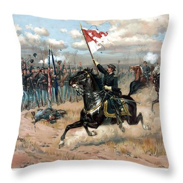 Sheridan's Ride Throw Pillow