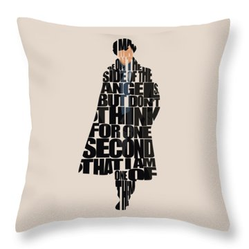 Sherlock - Benedict Cumberbatch Throw Pillow