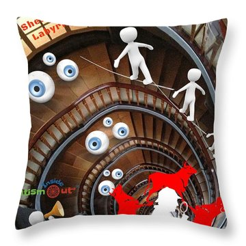 Sherlocks Labyrinth Throw Pillow