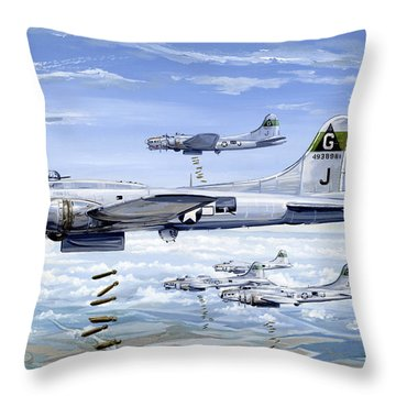 Usaaf Throw Pillows