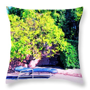 She's Gone Throw Pillow by Dominic Piperata