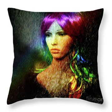 She's Like A Rainbow Throw Pillow
