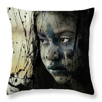 Throw Pillow featuring the mixed media She's Out Of My Life  by Paul Lovering