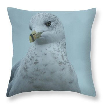 She's Over There Throw Pillow
