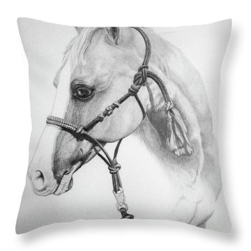 Shes The Gentle One Throw Pillow