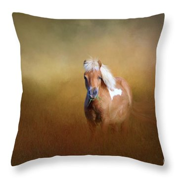 Shetland Pony Throw Pillow by Marion Johnson
