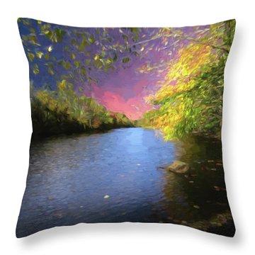 Shetucket River Ct. Throw Pillow
