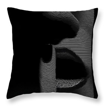 Shhh Throw Pillow by ISAW Gallery