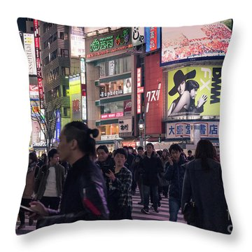 Shibuya Crossing, Tokyo Japan 3 Throw Pillow