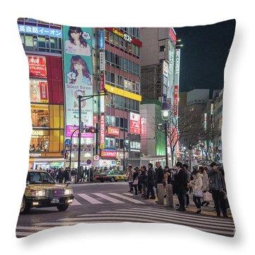 Shibuya Crossing, Tokyo Japan Throw Pillow