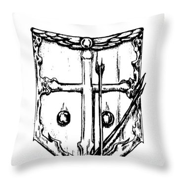 Shield Of Faith Throw Pillow by Maryn Crawford