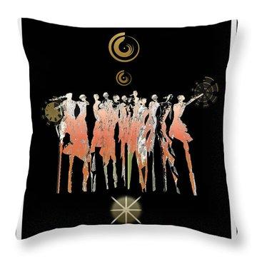 Women Chanting - Shieldmaidens Throw Pillow