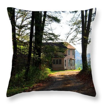 Throw Pillow featuring the photograph Shields Farm by Kathryn Meyer