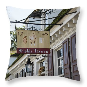 Shields Tavern Sign Throw Pillow