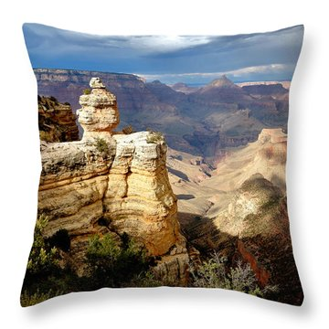 Shifting Shadows Throw Pillow