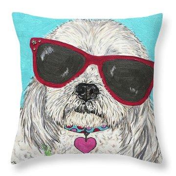 Shih Tzu Diva Throw Pillow