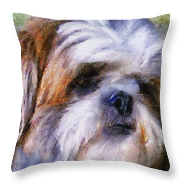 Shih Tzu Portrait Throw Pillow
