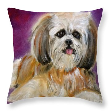 Shih-tzu Puppy Throw Pillow