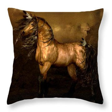 Shikoba Choctaw Horse Throw Pillow