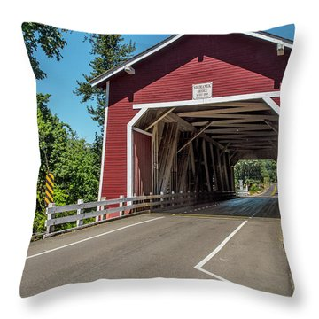 Shimanek Covered Bridge Throw Pillow