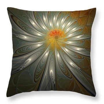 Shimmer Throw Pillow by Amanda Moore