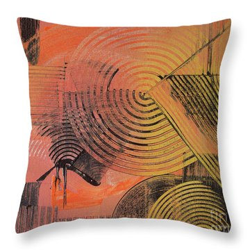 Throw Pillow featuring the painting Shimmer by Melissa Goodrich