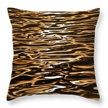 Shimmering Reflections Throw Pillow by Az Jackson