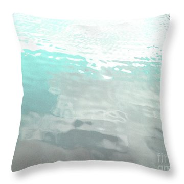 Throw Pillow featuring the photograph Let The Water Wash Over You. by Rebecca Harman