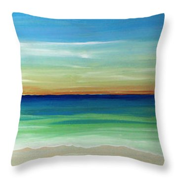 Shimmering Sunset Throw Pillow