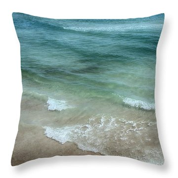 Shimmering Tide Throw Pillow by Judy Hall-Folde
