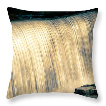 Shimmering Waterfall Throw Pillow