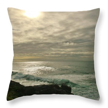 Shimmery  Light Throw Pillow by Sheila Ping
