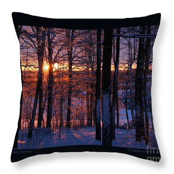 Shimmery Sunrise Throw Pillow