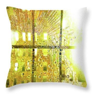 Throw Pillow featuring the mixed media Shine A Light by Tony Rubino