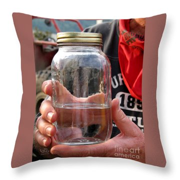 Throw Pillow featuring the photograph Shine In A Bell Jar by Beauty For God