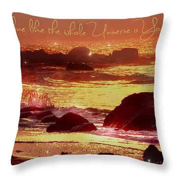 Shine Like The Universe  Throw Pillow
