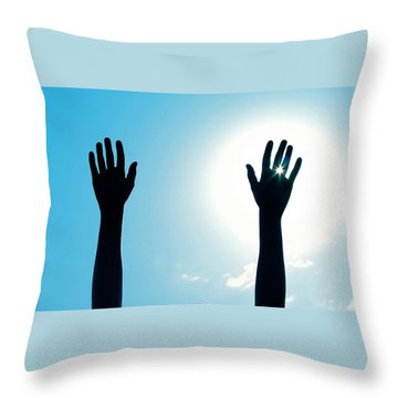Shine On Throw Pillow by DAKRI Sinclair