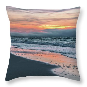 Throw Pillow featuring the photograph Shine On Me Beach Sunrise  by John McGraw