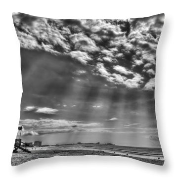 Shine On You Crazy Diamond Throw Pillow by Evelina Kremsdorf